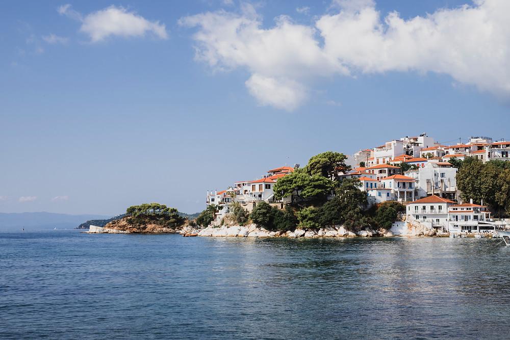 The island of Skiathos in Greece