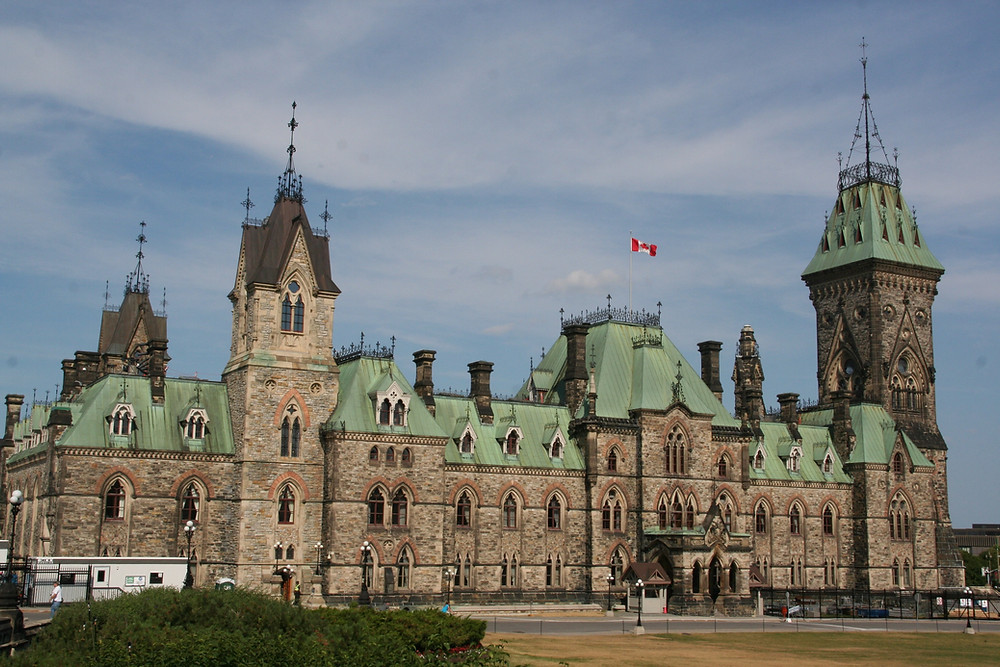 An image of Canada's parliament building.