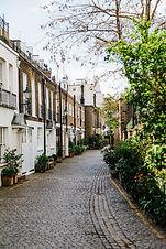 Street of victorian residential properties
