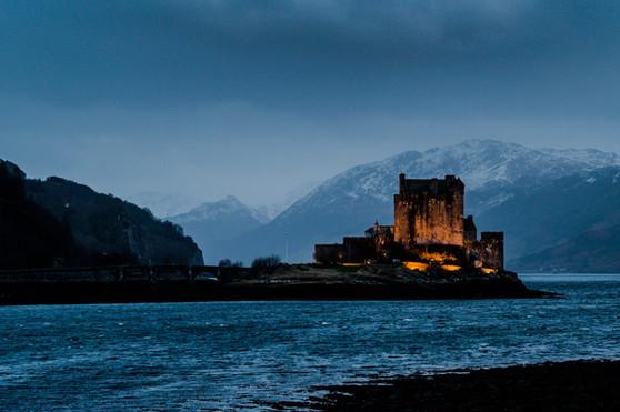Eilean Donan Castle, three lochs