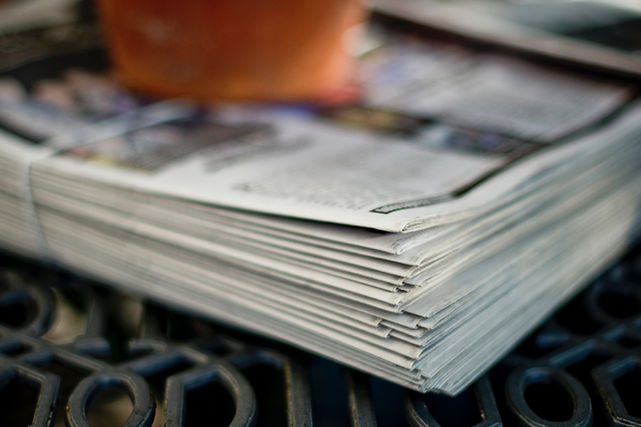 Newspapers providing news updates