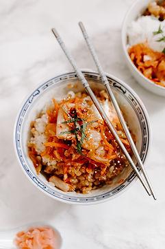 Cabbage, kimchi