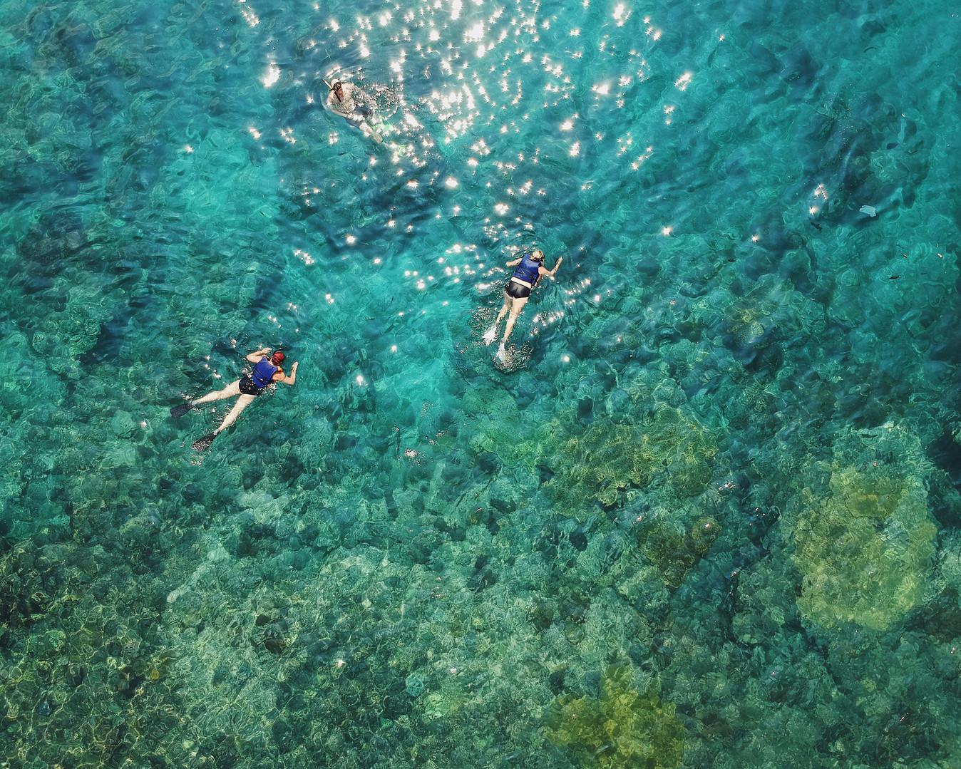 Snorkel in blauwe Lagune