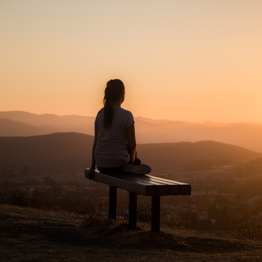 Stille bei Sonnenuntergang