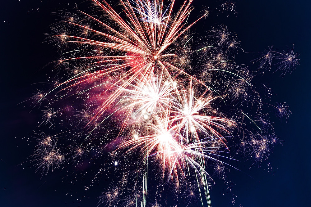 Bright white Fireworks