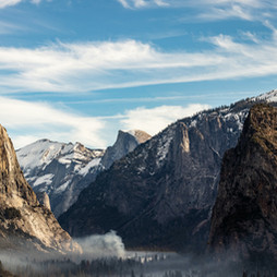 Hiking. This photo is Yosemite, one of our national parks I've been lucky enough to visit.