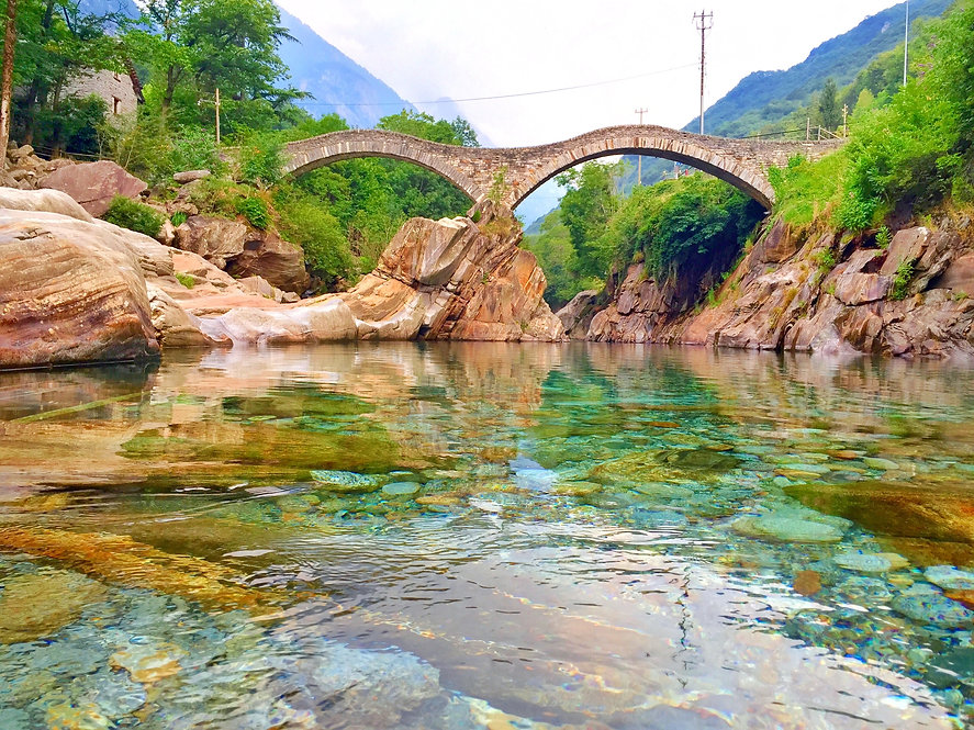 Ticino in Switzerland | Bridge over small valley