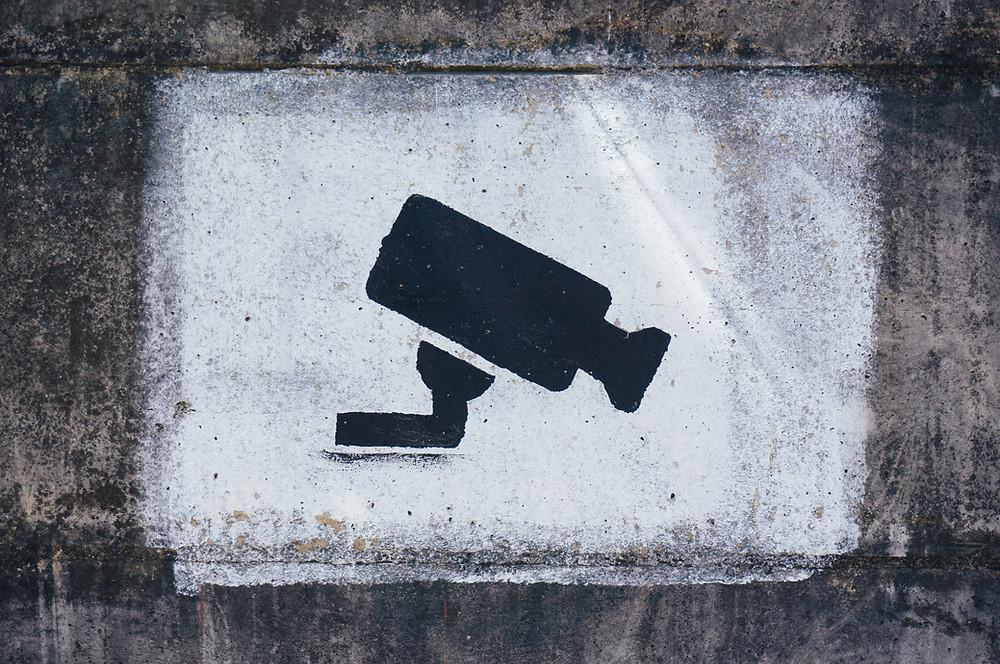 Illustrazione di una telecamera a circuito chiuso