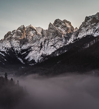 Winter Mountain and Forest landscape
