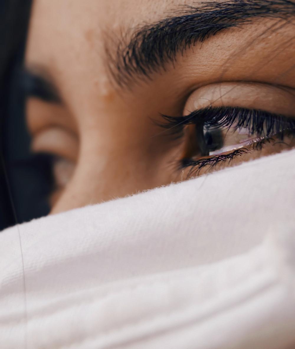 nurse crying