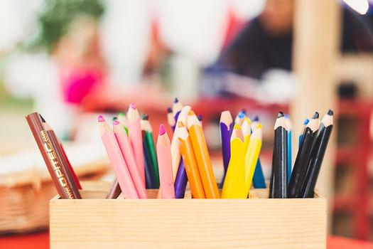 Kindergarten Page Header: Colored Pencils
