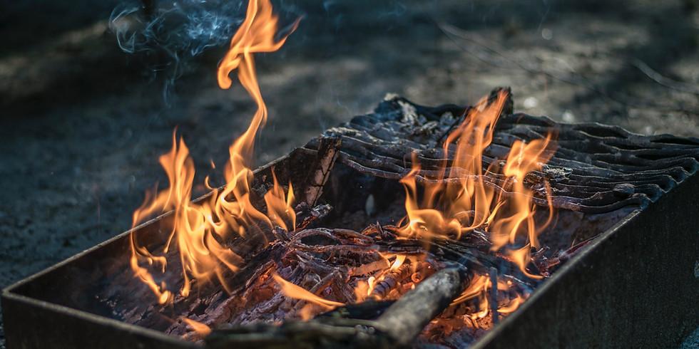 Open Fire Asado Cow Cook Out