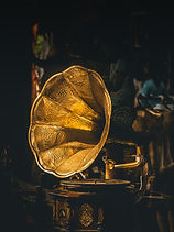 Retro Brass Phonograph Image by Sudhith Xavier
