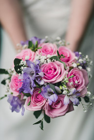 Pink and lilac bridal bouquet