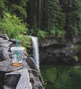Starbucks Plastic Cup in Nature