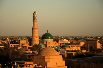 The ancient Silk Road cities of Samarkand, Bukhara and Khiva conjure up images of unimaginably wealthy oases linked by caravans, of imperial politics and incredible architecture. Beautiful turquoise domes and towering minarets grace the skyline while down below everyday life goes on in markets and cafes from years gone by. This 11-day tour of Uzbekistan takes you to the cities of Bukhara, Samarkand and Khiva as well as to some more remote areas like the desert castles on the arid plains of Khorezm, a yurt camp near Aidarkul Lake and the ancient town of Nurata.