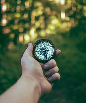 Holding a compass