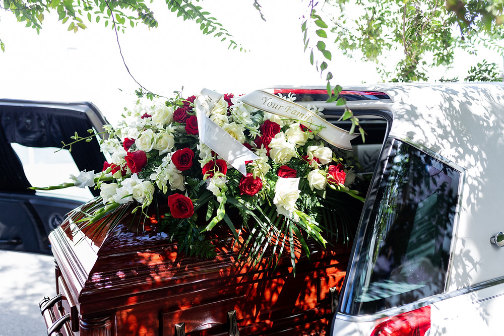 Grief at funeral