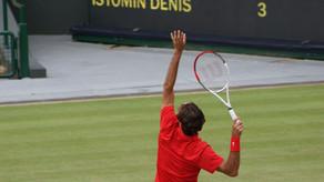 Roland-Garros : La réaction de Roger Federer après sa victoire au premier tour contre Denis Istomin.