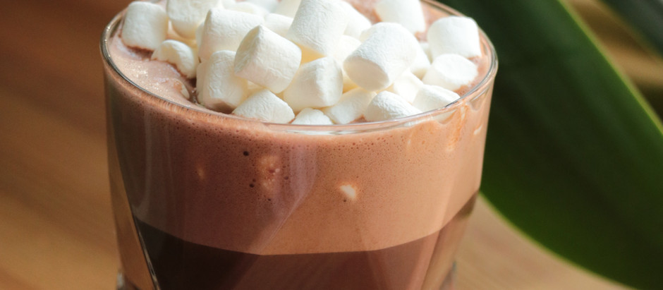 Christmas Recipes. Delicious Hot Chocolate with Marshmallows and Cream
