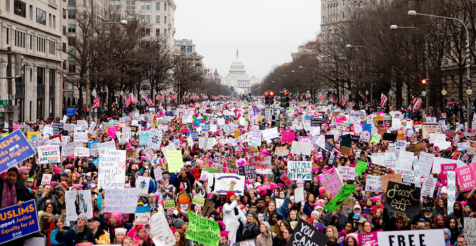 Women's march, demonstration, tampon tax, women's rights