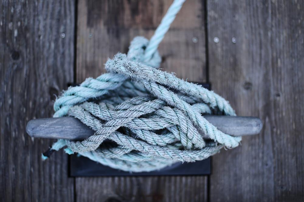 Photo typique du mauvais noeud de taquet