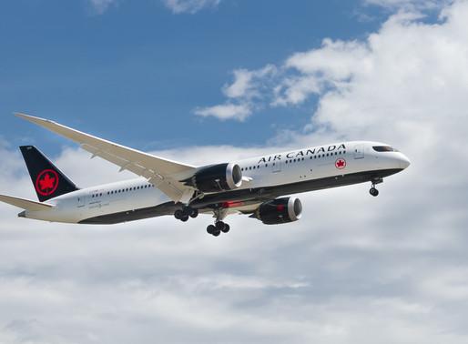 Air Canada ofrece seguro médico y de cuarentena