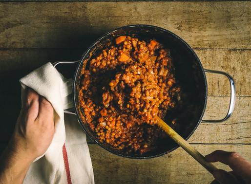 Slow cooker lentil chilli