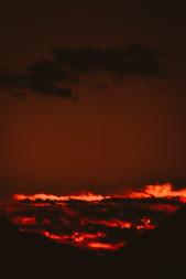 Blazing fiery fields