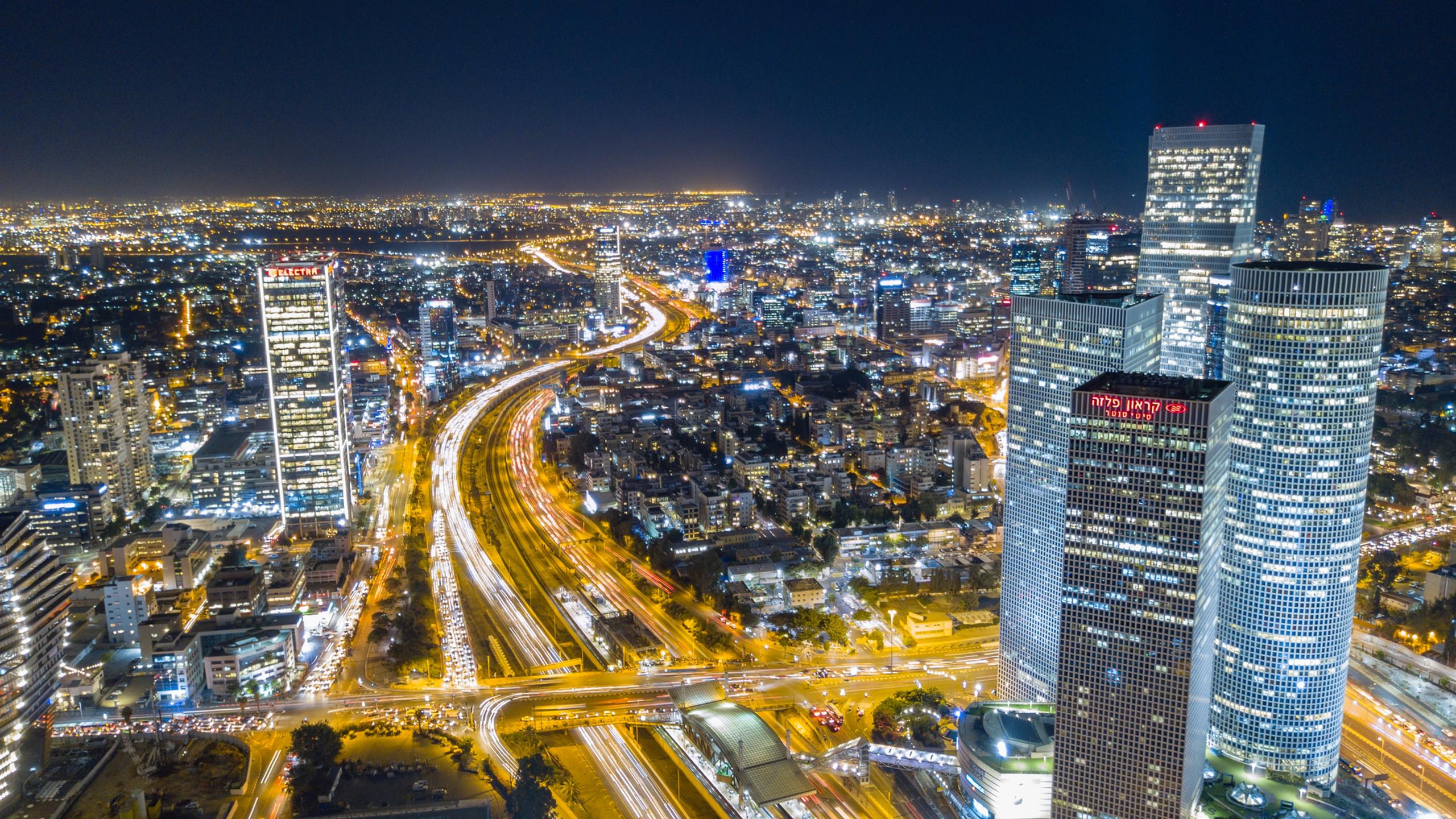 Ayalon road in Tel Aviv