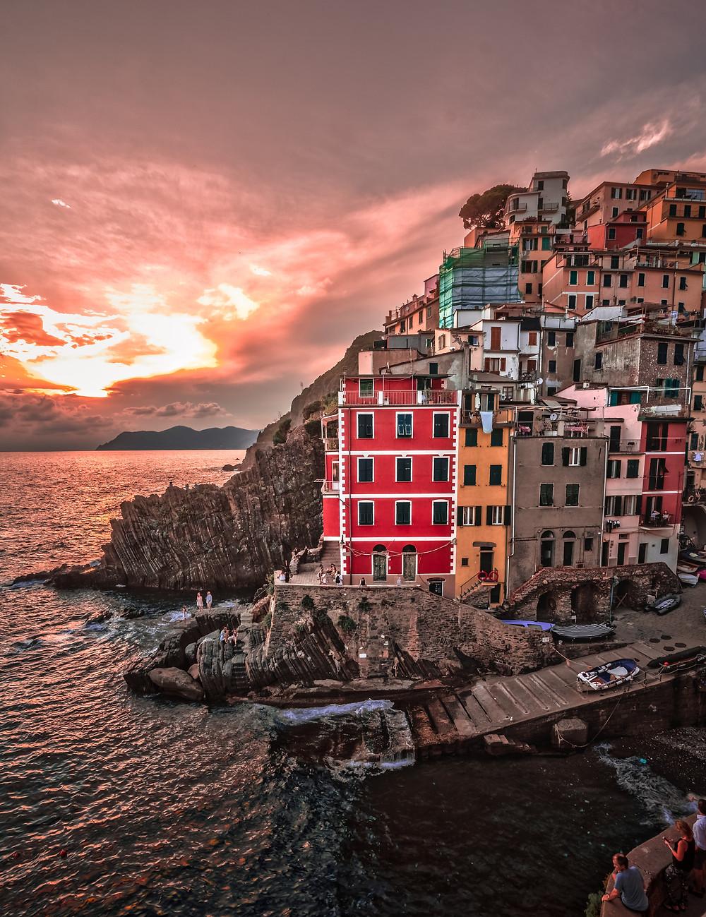 Riomaggiore Cinque Terre Sunset