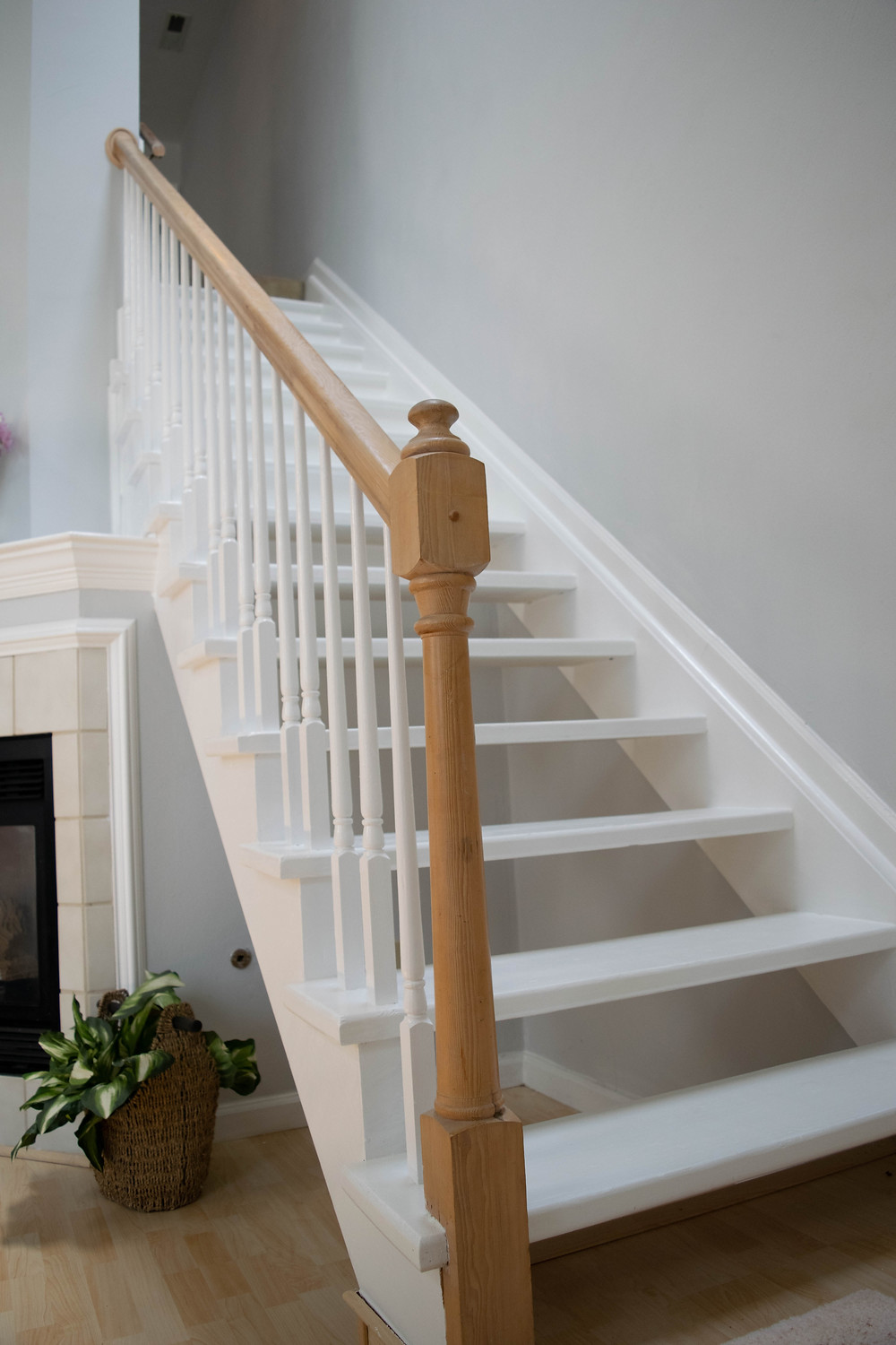 Staircase with banister