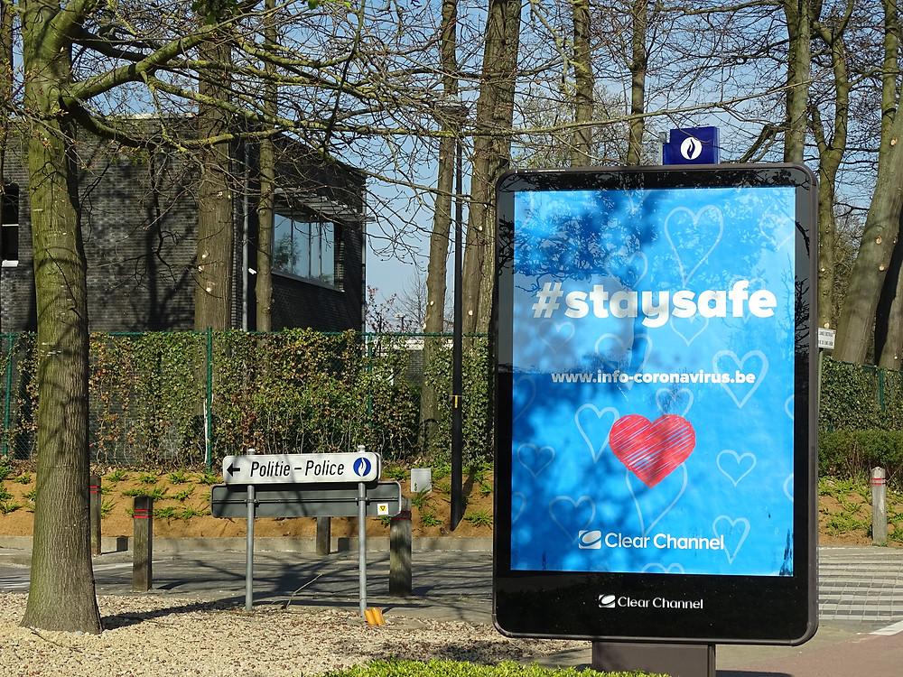 Plakat mit Gesundheitsauklärung aus Belgien