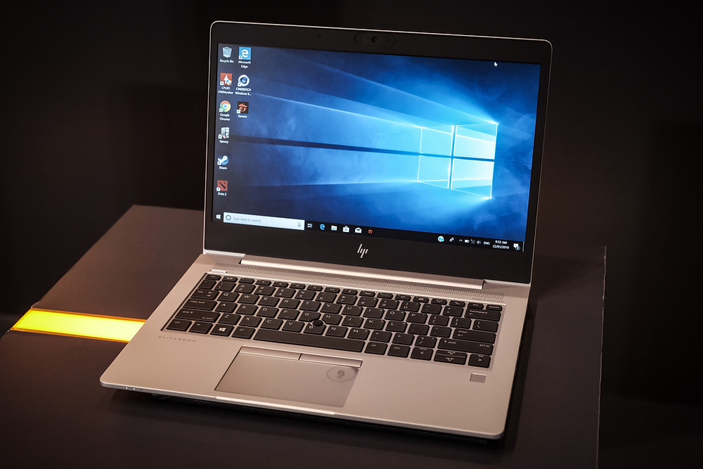 laptop computer running Windows 10