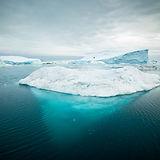 Glacier on water