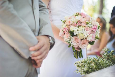 Roses and stephanotis bridal bouquet