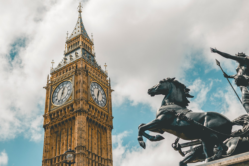 Big Ben and the statue of Boudica