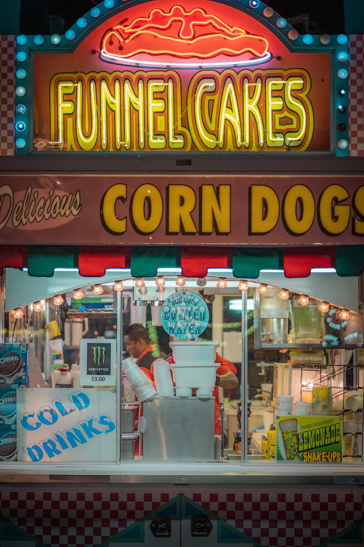 funnel cake corn dogs beach