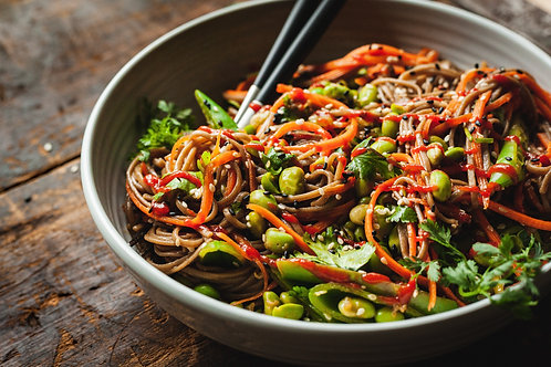 Chilled Vegetable Chow Mein on Saturday July 4