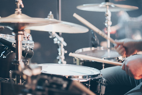 Weekly Drum/ Percussion Lessons (60 min lesson x 4/ mo)