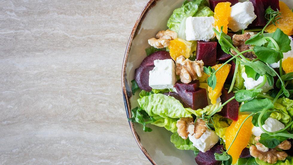 Brie & Walnut Salad (D) (N)