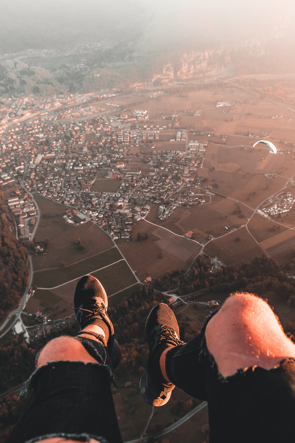 Paragliding and adventure in the Bernese alps of Switzerland