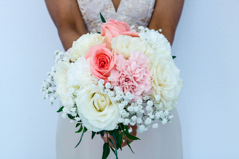 Roses and carnations bridal bouquet