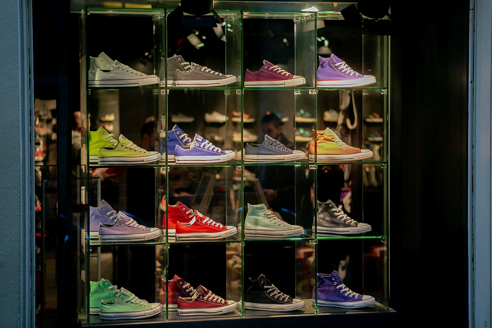 shoes in the showcase
