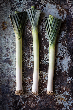 Leeks, (bulb and lower leaf-portion), raw