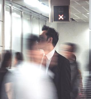 People walking in Hong Kong