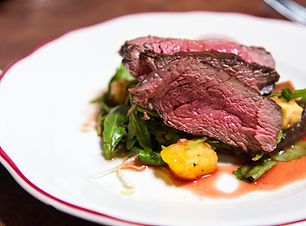 Goderich Place dining - beef with greens