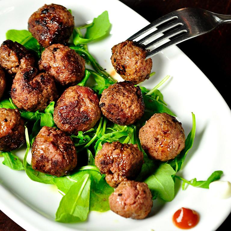 Virtual Summer Supper: Greek Meatballs with Lemony Orzo
