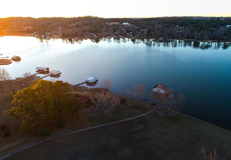 bird-eye lake scenery