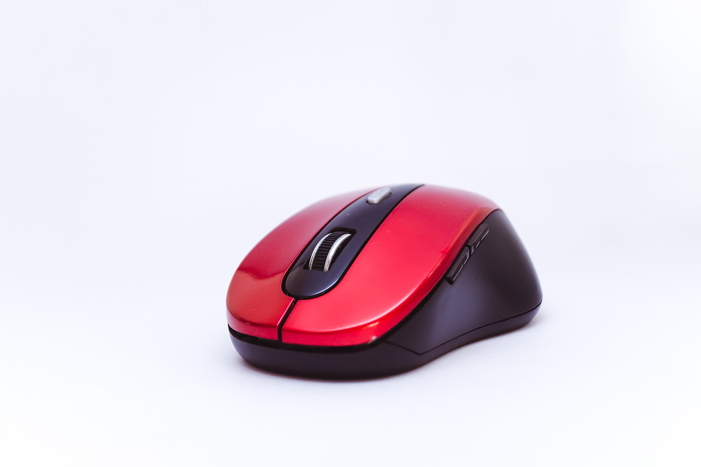 A wireless mouse.